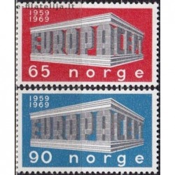 10x Norway 1969. Europa...