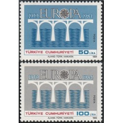 5x Turkey 1984. Europa CEPT...