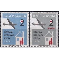 Yugoslavia 1957. Red Cross...
