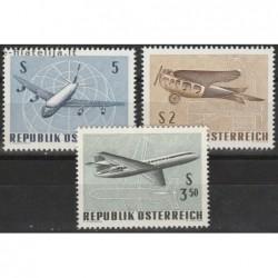 10x Austria 1968. Airplanes...