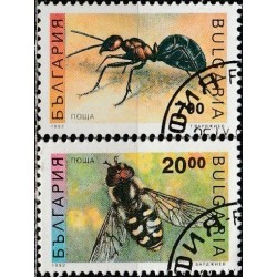 10x Bulgaria 1992. Insects...