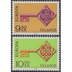 Iceland 1968. Key with CEPT...