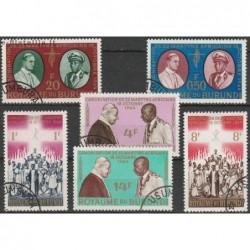 10x Burundi 1964. Popes...