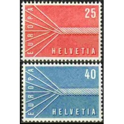 10x Šveicarija 1957. Žemės...