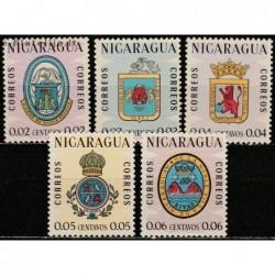 10x Nicaragua 1962. Coats...