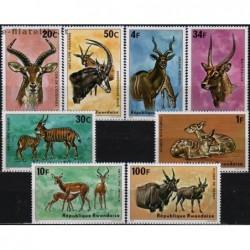 5x Rwanda 1975. Antelopes...