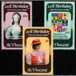 5x St.Vincent 1982. Diana,...