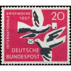 Vokietija 1957. Paštas
