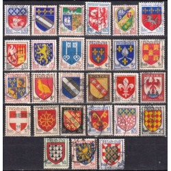 France. Set of used stamps...
