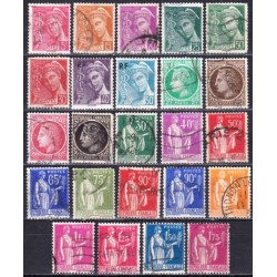 France. Set of used stamps XXV