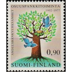 Finland 1977. Tree and birds