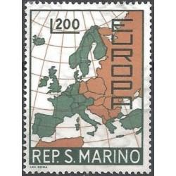 San Marino 1967. Map of...