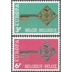 Belgium 1968. Key with CEPT...