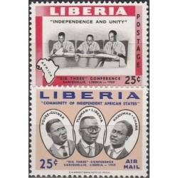 Liberia 1960. Presidents of...