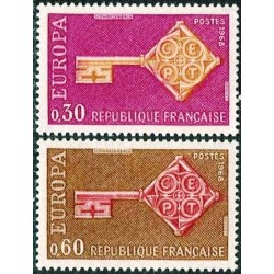 France 1968. Key with CEPT...