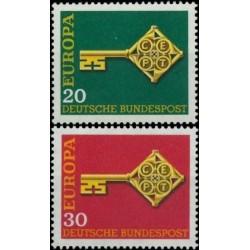 Germany 1968. Key with CEPT...