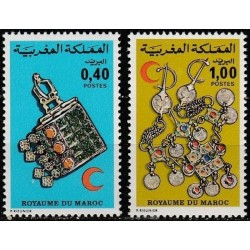 Morocco 1976. Red Cross