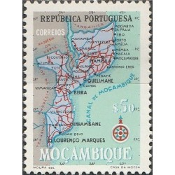 Mozambique 1954. Country map