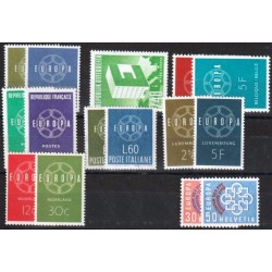 Set of stamps 1959. Europa
