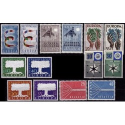 Set of stamps 1957. Europa