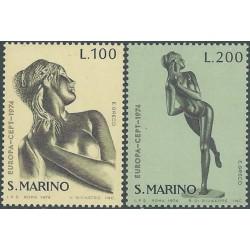 San Marinas 1974. Skulptūros