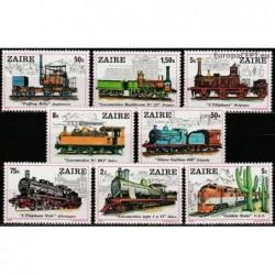Zaire 1980. Locomotives