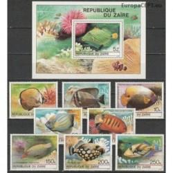 Zairas 1980. Tropikų žuvys