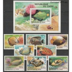 Zaire 1980. Tropical fishes
