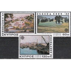 Cyprus 1977. Landscapes in...