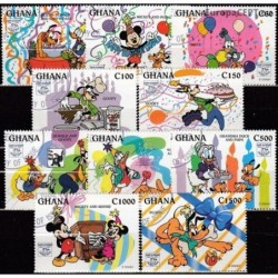 Ghana 1995. Disney figures