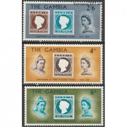 Gambia 1969. Stamps on stamps