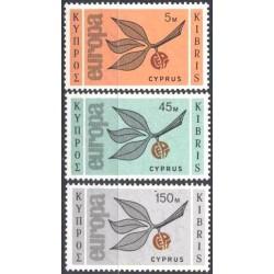 Cyprus 1965. CEPT: 3 Leaves...