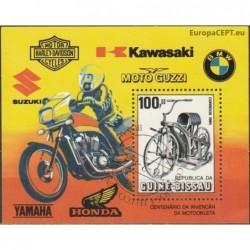 Guinea-Bissau 1985. Motorbikes