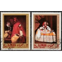 Ajman 1968. Spanish artworks