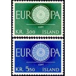 Islandija 1960. Stilizuotas...