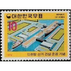 South Korea 1974. Inchon port