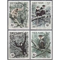 Vietnam 1987. Monkeys