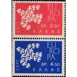 Greece 1961. CEPT: Stylised...