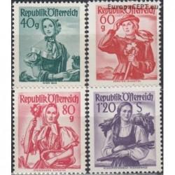 Austrija 1949. Moterų apdarai