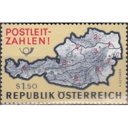 Austria 1966. Post codes