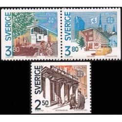 Švedija 1990. Pašto pastatai
