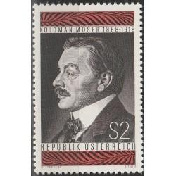 Austrija 1968. Pašto ženklų...